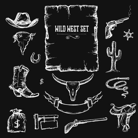 Wild West  Set Collection, vector illustration Illustration