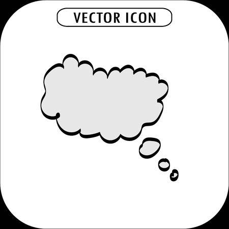 balon: think bubble icon, vector illustration