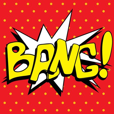 bang: Comic book explosion buble, vector illustration, bang