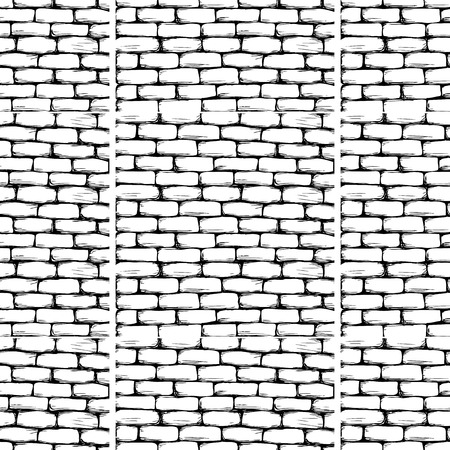 Brick wall seamless pattern. Vector illustration. Ilustrace