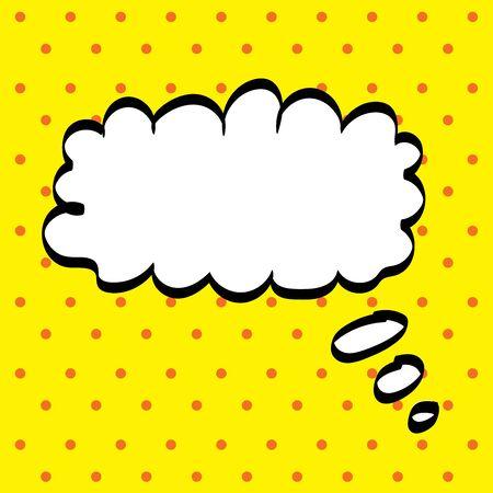 reasoning: Pop art think bubble, vector illustration