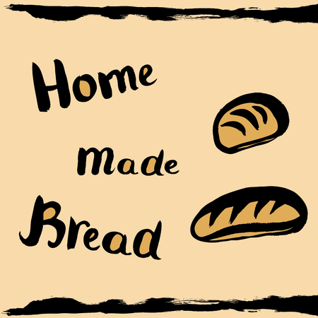 home products: homemade bread, concept design, vector illustration Illustration