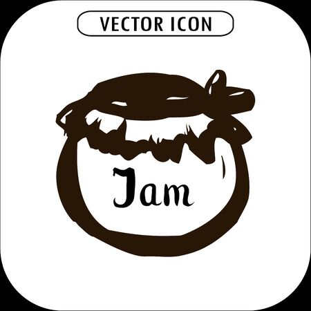 configure: Bank jam icon. hand drawing, vector illustration