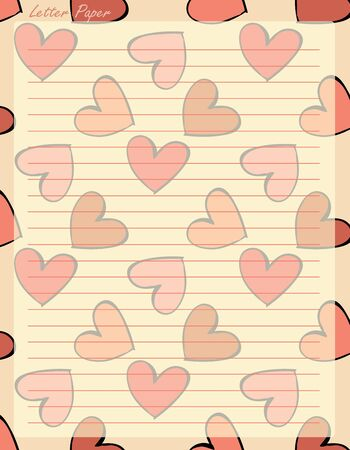 spiral binding: Paper page with color hearts , vector illustration. Illustration