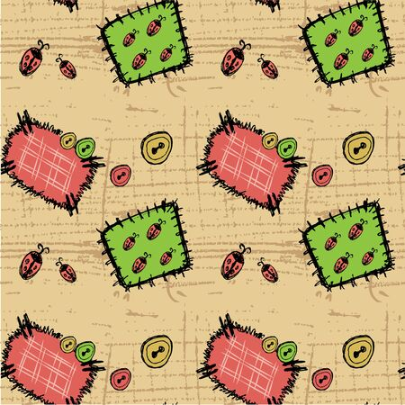 Patches Seamless background. Vector illustration