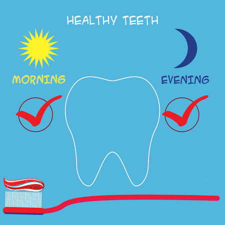 care: Dental care concept. Vector illustration Illustration