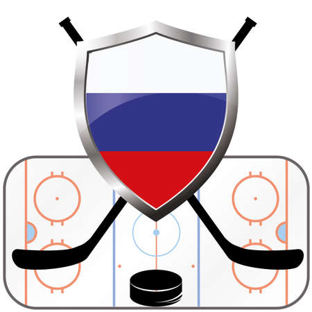 bandera rusia: Hockey, bandera de Rusia