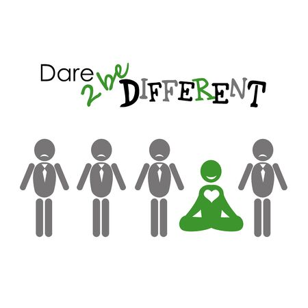 be different: illustration of people icons, be different, vector illustration
