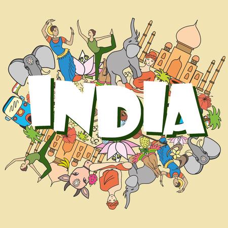 Inde jeu coloré, illustration vectorielle Vecteurs