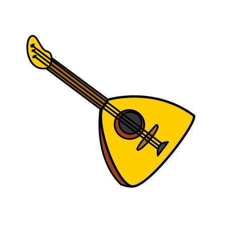 balalaika: Balalaika Vector Cartoon Illustration. Folk musical Instrument Balalaika Isolated on a White Background