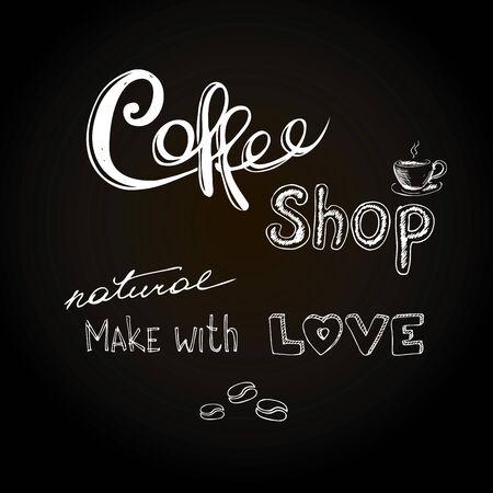 espreso: Coffee shop.Hand drawn vector illustration