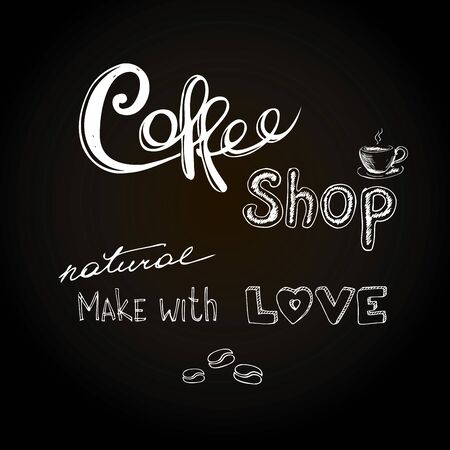 Coffee shop.Hand drawn vector illustration