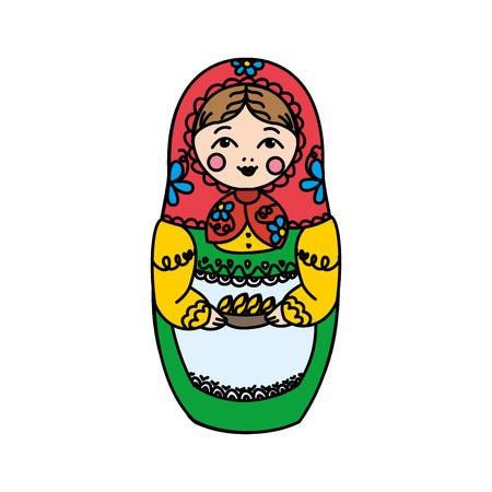 mu�ecas rusas: mu�ecas rusas - matryoshka. ilustraci�n vectorial