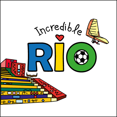 incredible: Inscription - Incredible Rio, hang-gliding and colored staircase