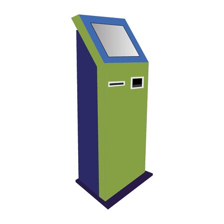 internet terminals: information kiosk,payment terminal, stand. Vector isolated on white background