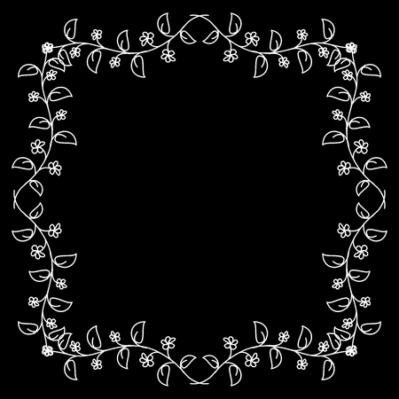 engraver: Decorative  floral frame, vector illustration