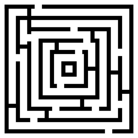 difficult decision: Vector illustration of maze  labyrinth. Isolated on white background,