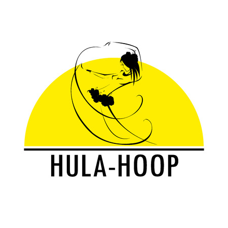 Hawaii hula vector logo design template. Beautiful Dancer icon. Illustration