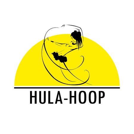 the performer: Hawaii hula vector logo design template. Beautiful Dancer icon. Illustration