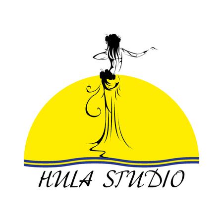 Hawaii vector logo design template. Beautiful Hula studio icon.
