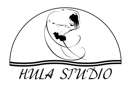 Hawaii Vektor-Logo-Design-Vorlage. Schönes Hula Studio-Symbol ...