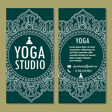 yoga poster: Template of yoga poster, flyer, banner. Vector illustration