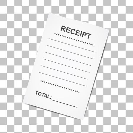 Verkauf gedruckt receipt.Template für Bank, Café oder Restaurant Papier Finanz-Check, Vektor-Illustration Standard-Bild - 76778567