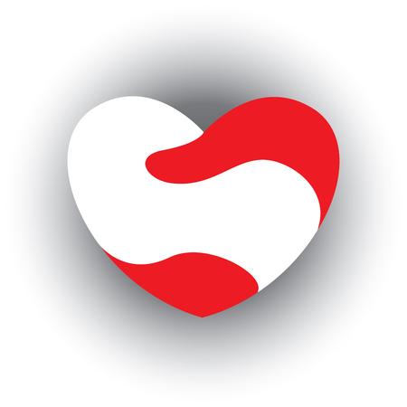 wedded: Heart Icon, stock vector illustration