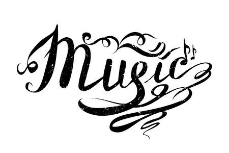 Muziek Hand getekende vectorillustratie