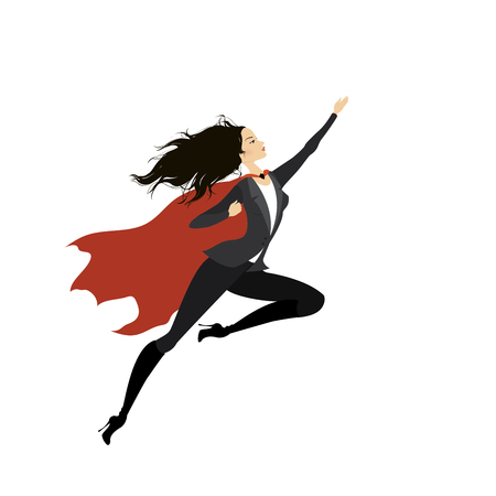 Super heroine, isolated on white background vector illustration Illustration