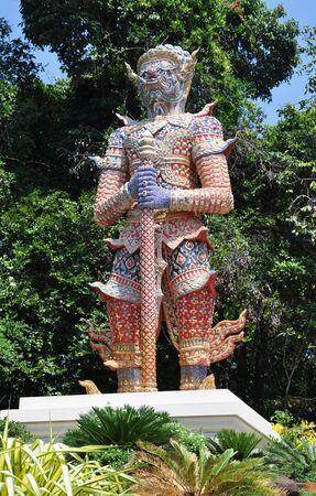 titan: Titan guardian of temple Thailand Stock Photo