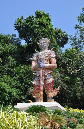 Titan guardian of temple Thailand Stock fotó