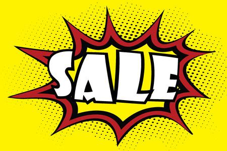 Comic art speech bubble -sale,stock vector illustration