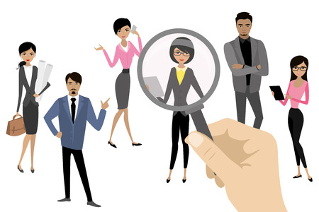 Employer of choice, candidate selection, employees group management business recruitment concept, vector cartoon illustration Stock fotó - 102017061