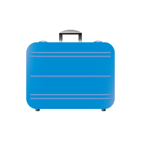 Cartoon modern suitcase,isolated on white background,vector illustration