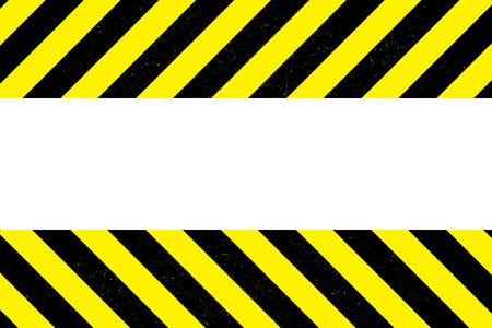 Warning Sign On White Background,place for text,vector illustration.  イラスト・ベクター素材