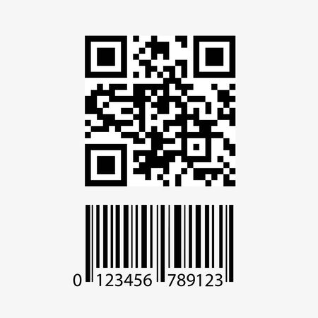 Qr code and barcode icon,