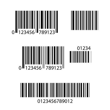 Set of Barcode icons,isolated on white background,stock vector illustration.