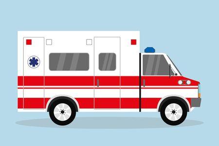 Ambulance car, flat emergency auto,vector illustration