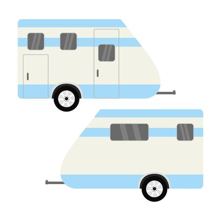 Vehicle Camper Van. Isolated Caravan,flat vector illustration