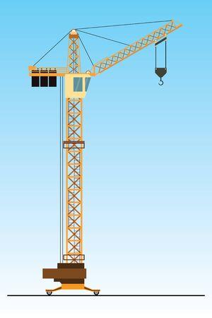 Crane,flat vector