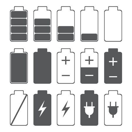 Battery Indicator Icons,isolated on white background,vector illustration