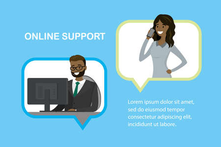 Online support customer service concept,
