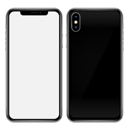 Smartphone black template Vectores