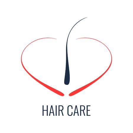 follicle: Hair care logo. Hair follicle icon. Hair bulb symbol. Hair medical diagnostics sign. Hair medical center poster. Hair loss treatment concept. Vector illustration.