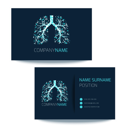 Medical Business Card Template With Lungs Filled With Air Bubbles ...