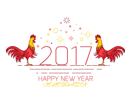 chinese new year rooster celebration design template on white background stock vector 62758468