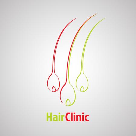 bulbe de cheveux modèle. La perte de cheveux concept design de la clinique. Diagnostic médical, les soins signe. Vector illustration