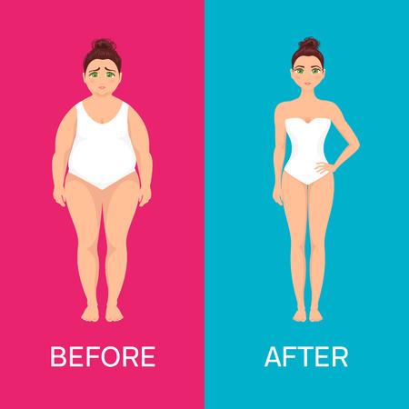Kobieta przed i po utracie wagi