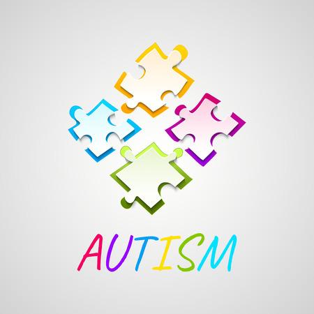 struggle: Autism awareness puzzle poster Illustration